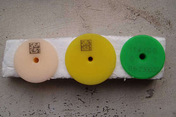 Laser marking on rubber 2