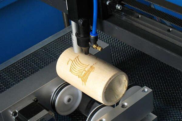 Column laser engraving sample 2
