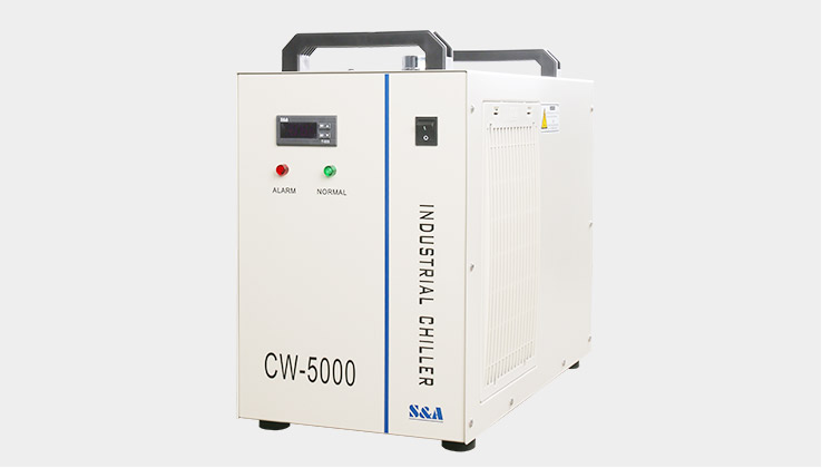 water chiller of the co2 laser engraver