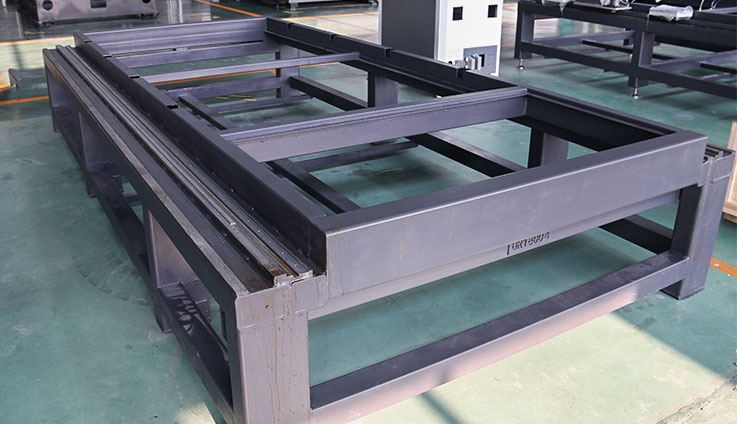 Welding bed of the fiber laser cutter