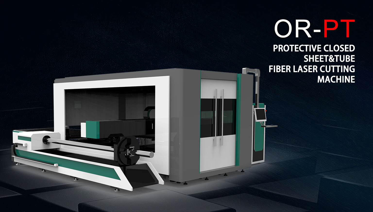 Protective Closed Sheet&Tube Fiber Laser Cutting Machine OR-PT