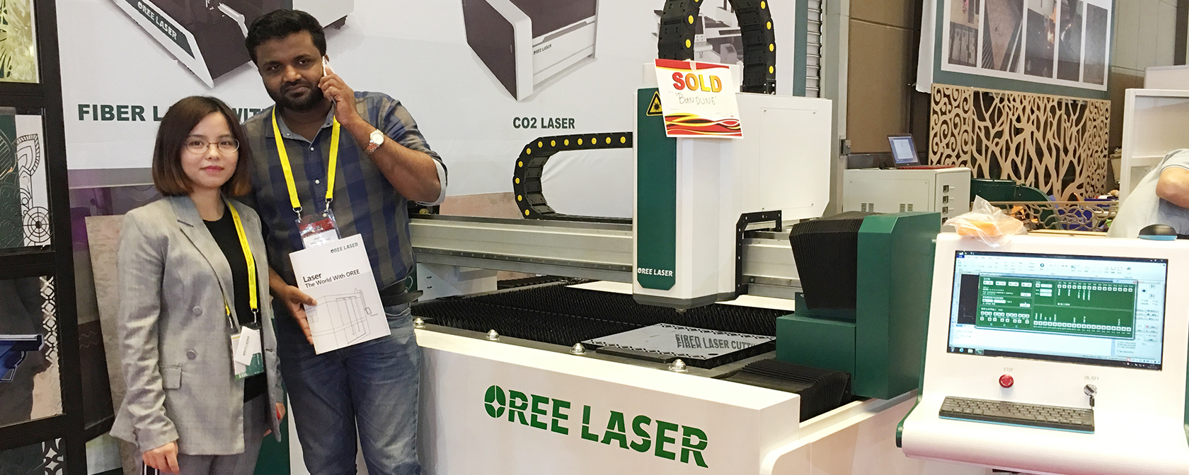 Oree laser is at All print Indonesia