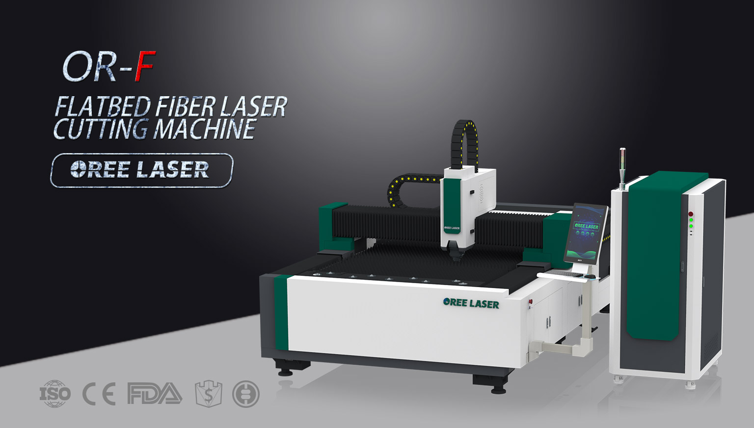 Flatbed Fiber Laser Cutting Machine OR-F