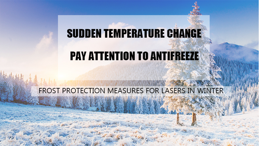 Frost protection measures for lasers in winter
