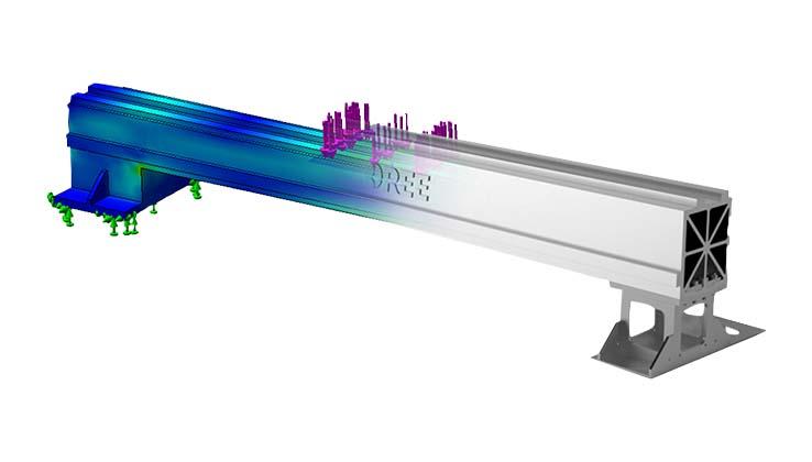 The fifth-generation aviation aluminum alloy beam